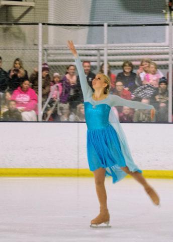 Jessie as Elsa in Frozen