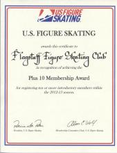 USFSA Plus 10 Membership Award